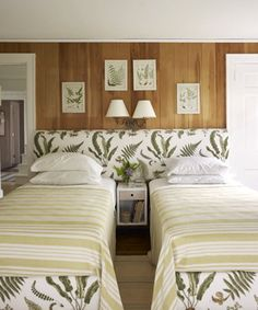 Twin Beds with joint headboard