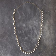 "Fresh Pearl Necklace, 16""l,  $148"