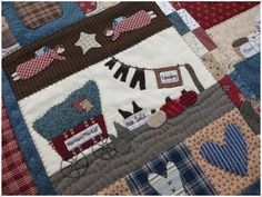 Lancaster Quilt 2 Lancaster, Applique Quilts, Quilt Patterns, Patches, Blanket, Country, Baltimore, Feltro, Appliques