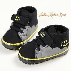 75b7f3df Baby Boys Batman Shoes, Boys Batman Crib Shoes, Pre Walkers, Batman  Birthday Shoes