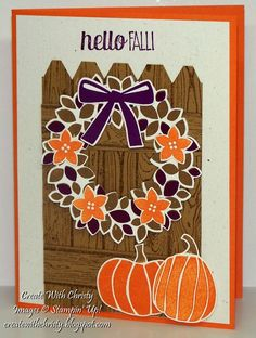 Stampin' Up! Wondrous Wreath Fall Card - Create With Christy - Christy Fulk, Stampin' Up! Demo