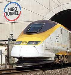 EURO TUNNEL- Rode Euro Star under the English Channel