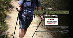 Each day in September, Tactical.com is giving away one pair of Tac9er Trekking Poles. Check it out! Cool Tactical Gear, Days In September, Charlie Sheen, Gifts For Hunters, Ffa, Enter To Win, 31 Days, Each Day, Free Stuff