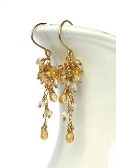 Bride's earrings pendientes de novia