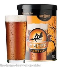 Mr beer #bewitched #amber ale beer kit refill mix - home #brewing - making 8 litr,  View more on the LINK: 	http://www.zeppy.io/product/gb/2/171675937457/