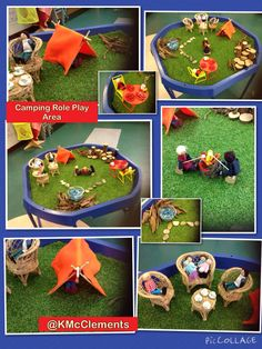 BC Language Arts Oral Language Camping small world Eyfs Activities, Camping Activities, Activities For Kids, Crafts For Kids, Role Play Areas, Tuff Spot, Preschool At Home, Preschool Ideas, Tuff Tray