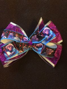Purple Frozen  Hair Bow by HelgasHairBowDesigns on Etsy