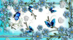 Download Blue Butterflies Abstract Flowers Unique Nature Wallpaper ...