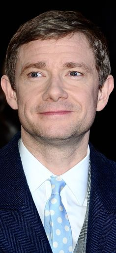 Martin looking gorgeous at the Hobbit TBotFA premiere <3