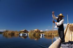 Floating reed islands of the Uros People- Titicaca Lake