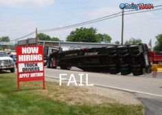 This would never happen to one of our graduates!  LIKE Progressive Truck Driving School today: http://www.facebook.com/cdltruck  #trucking #truckdriver #trucker #truck #money #career #employment #job