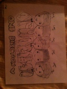 My cartoon drawing of One Direction