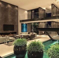 home home design Dream House Interior, Luxury Homes Dream Houses, Dream Home Design, Modern House Design, Home Interior Design, Luxury Interior, Exterior Design, Contemporary Design, Modern Architecture House