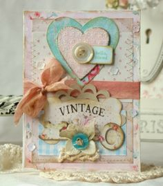 handmade, vintage style, shabby chic cards