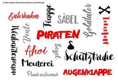 Silhouette plotter file free, Plotter Datei kostenlos, plotter freebie,pirates, Piraten, Pirat, wordart, Wortspiel