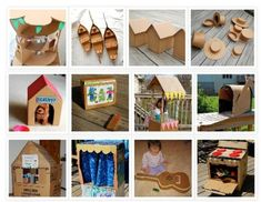 32 THINGS TO MAKE USING A CARDBOARD BOX {DIY}