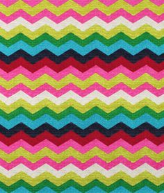 Waverly Panama Wave Desert Flower Fabric in a bright chevron / zigzag pattern.