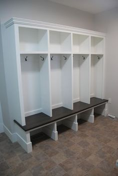 Mudroom Cubbies Design, Pictures, Remodel, Decor and Ideas - page 21 Mud Room Lockers, Entry Lockers, Built In Lockers, Garage Entry, Front Entry, Front Hallway, Entryway Bench Storage, Cubby Storage, Mudroom Storage Ideas