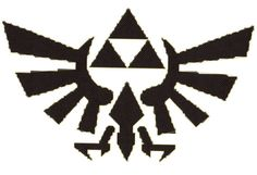 Legend of Zelda Triforce logo counted Cross Stitch by gotttwo, $3.40