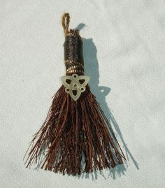 Celtic Knot Hand Besom for Wiccan and Pagan Rituals - 6 Inches