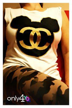 Superhero Logos, Mickey Mouse, Language, Chanel, T Shirt, Products, Fashion, Tee, Moda