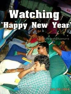 Watching Happy New Year Movie Funny Bollywood Images Funny Latest Bollywood Jokes Bollywood