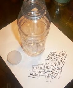 Tunstall's Teaching Tidbits: Discovery Bottles for word work (also some great science ideas here!)
