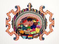 Carolina Ponte    Sem Título  2011  Escultura de crochê e tapeçaria  200 x 340 x 175 cm