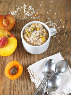 Arroz con leche with summer stone fruits! Peaches, apricots and plums give a summery vibe to this classic Latin American rice pudding dessert.