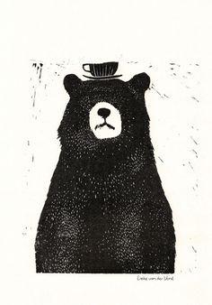 Linocut Bear - Lieke