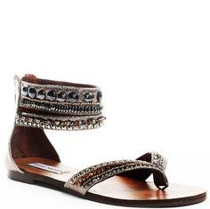 Earth Tone Jeweled Native American Sandals