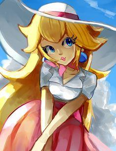 Super Mario Princess, Nintendo Princess, Mario Fan Art, Super Mario Art, Mario And Luigi, Mario Bros, The Legend Of Zelda, Harmonie Mario, Resident Evil