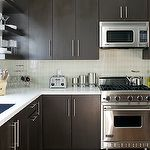 dark cabinets and light countertops