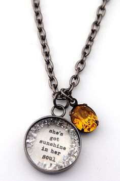 she's got sunshine in her soul [CNS35] - $35.00 : Beth Quinn Designs  , Romantic Inspirational Jewelry