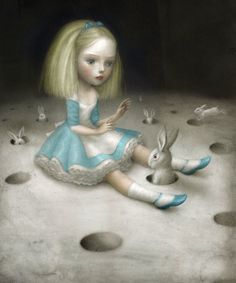 "Nicoletta Ceccoli's ""Heavenly Nightmares,"" a tribute to Lewis Carroll's Alice in Wonderland"