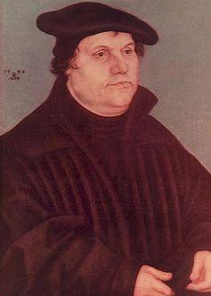 Reformator Martin Luther trägt ein Barett - Beginn 16. Jahrhundert