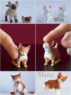 Pre-order. Kitten 3D bjd doll 45cm 55cm 65cm by WalloyaMorringShop