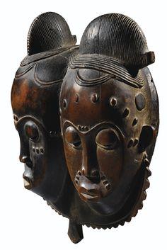 Masque-double, Baulé, Côte d'Ivoire | lot | Sotheby's