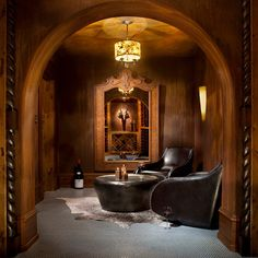 Whitefish Yacht Club Residence - rustic - Wine Cellar - Other Metro - Locati Architects