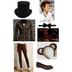 FNAF Freddy v2.0 by vivian-skull-crusher on Polyvore featuring arte