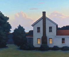 Twilight Farmhouse by Jim Holland (b. 1955)