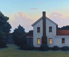 Twilight Farmhouse by Jim Holland (b. 1955)
