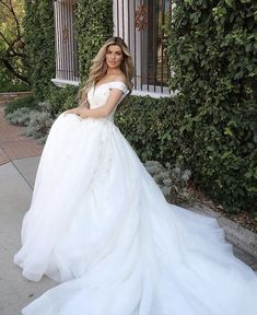 The ultimate princess gown, sparkle and off-the-shoulder straps 👑 Style D3245 by Essense of Australia Wedding Dress Boutiques, Wedding Dresses, Essense Of Australia, Bridal Stores, Gowns Of Elegance, Off The Shoulder, Shoulder Straps, Boutique Dresses, Ball Gowns