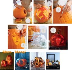How to carve silhouette pumpkins- with templates!