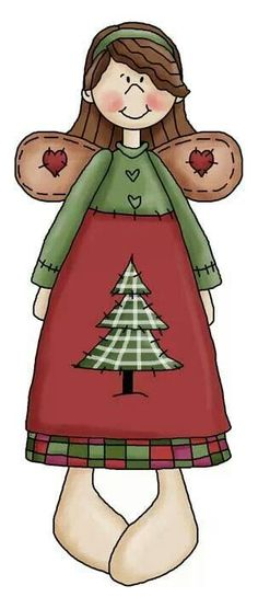 CHRISTMAS ANGEL, CLIP ART