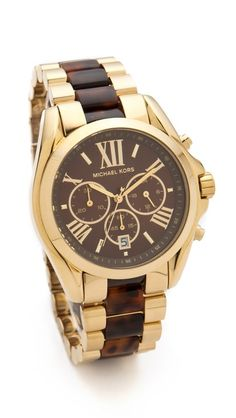 tortoise shell and gold Michael Kors watch http://rstyle.me/n/rwye5r9te