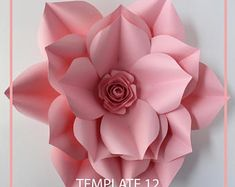 You know you can do beautiful things with your hands and you have made many Diy, but now you want to make paper flowers ... maybe have a party, a wedding or a baby shower, this is the perfect occasion to have a curtain of Background or maybe a whole wall with them.  Try it, its super easy and it will be an impact for your activity. The downloadable PDF file comes with instructions and several options for the base.  Beautiful template in pdf version of my favorite flower call it Gwenn and its…