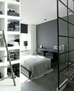 Space divider in studio flat
