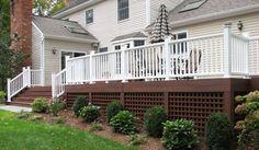 lattice under deck | Outdoor Storage Tips: Stowing In Plain Sight | BarefootFloor.com