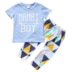 $4.80 (Buy here: https://alitems.com/g/1e8d114494ebda23ff8b16525dc3e8/?i=5&ulp=https%3A%2F%2Fwww.aliexpress.com%2Fitem%2FSummer-Newborn-Baby-Boy-Clothes-mama-s-boy-Short-Sleeve-T-shirt-Tops-Pants-Leggings-Outfits%2F32789000678.html ) Summer Newborn Baby Boy Clothes mama s boy Short Sleeve T-shirt Tops+ Pants Leggings Outfits Clothes Baby Clothing Set 0-24 M for just $4.80